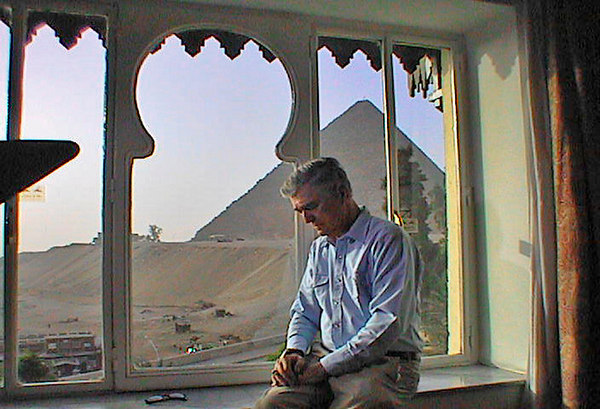 Joe Ponders by the Pyramids